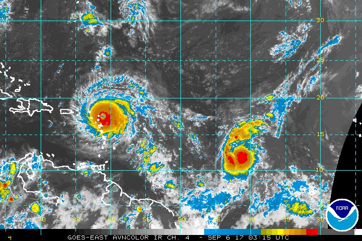 Infrared Satellite Imagery of Hurricane Irma.
